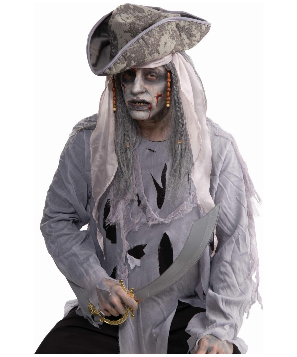 Mens Zombie Pirate Wig