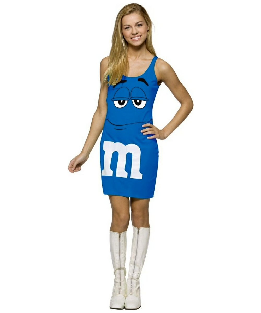 M And M Blue Tank Dress Costume - Teen Costume - Teenager Halloween Costume at Wonder Costumes  sc 1 st  Halloween Costumes : cool teenage halloween costumes  - Germanpascual.Com