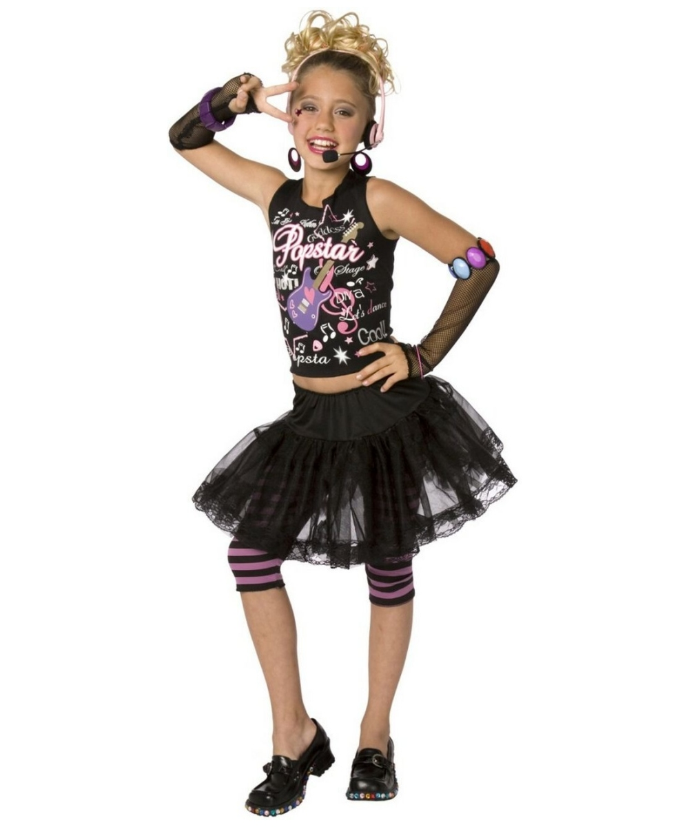 Pop Star Halloween Costume - 1980s Girl Costumes