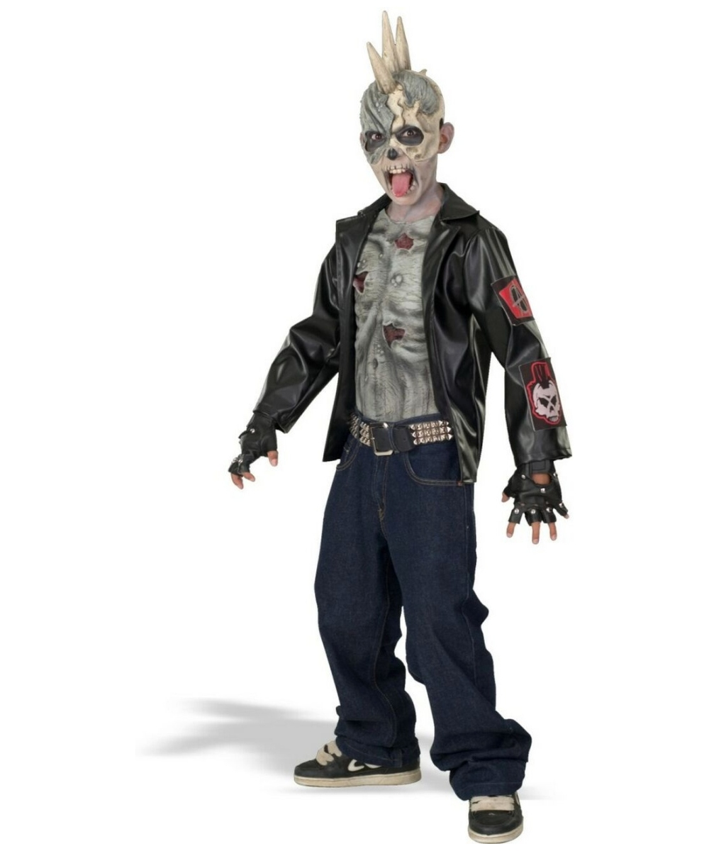 Zombie Punk Kids Halloween Costume - Boys Costumes