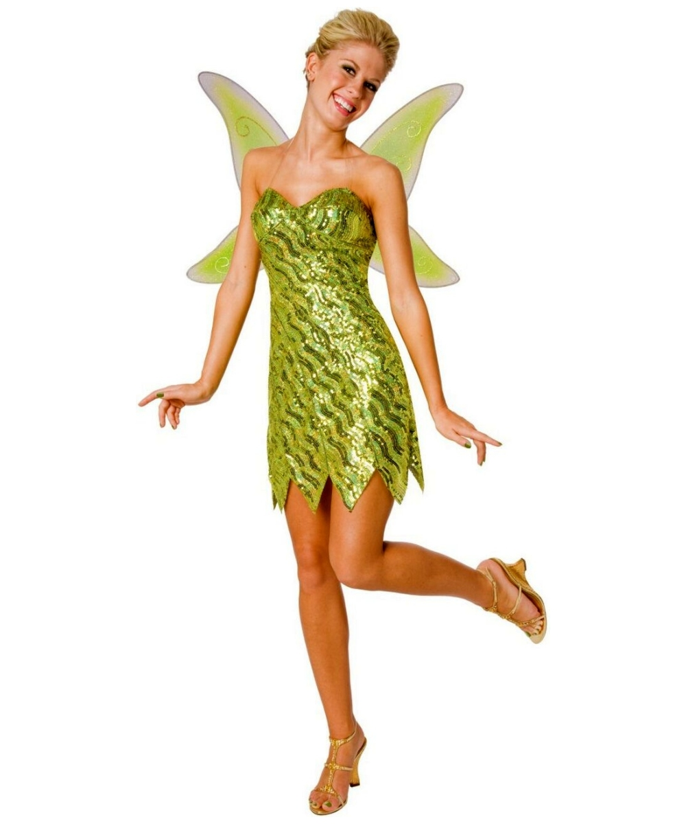 sequin tinkerbell adult costume tinker bell costumes