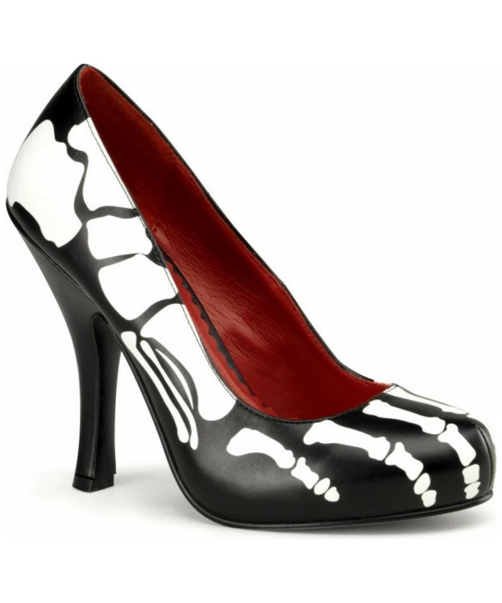 sc 1 st  Wonder Costumes & Adult Skeleton Shoes - Women Costume Shoes