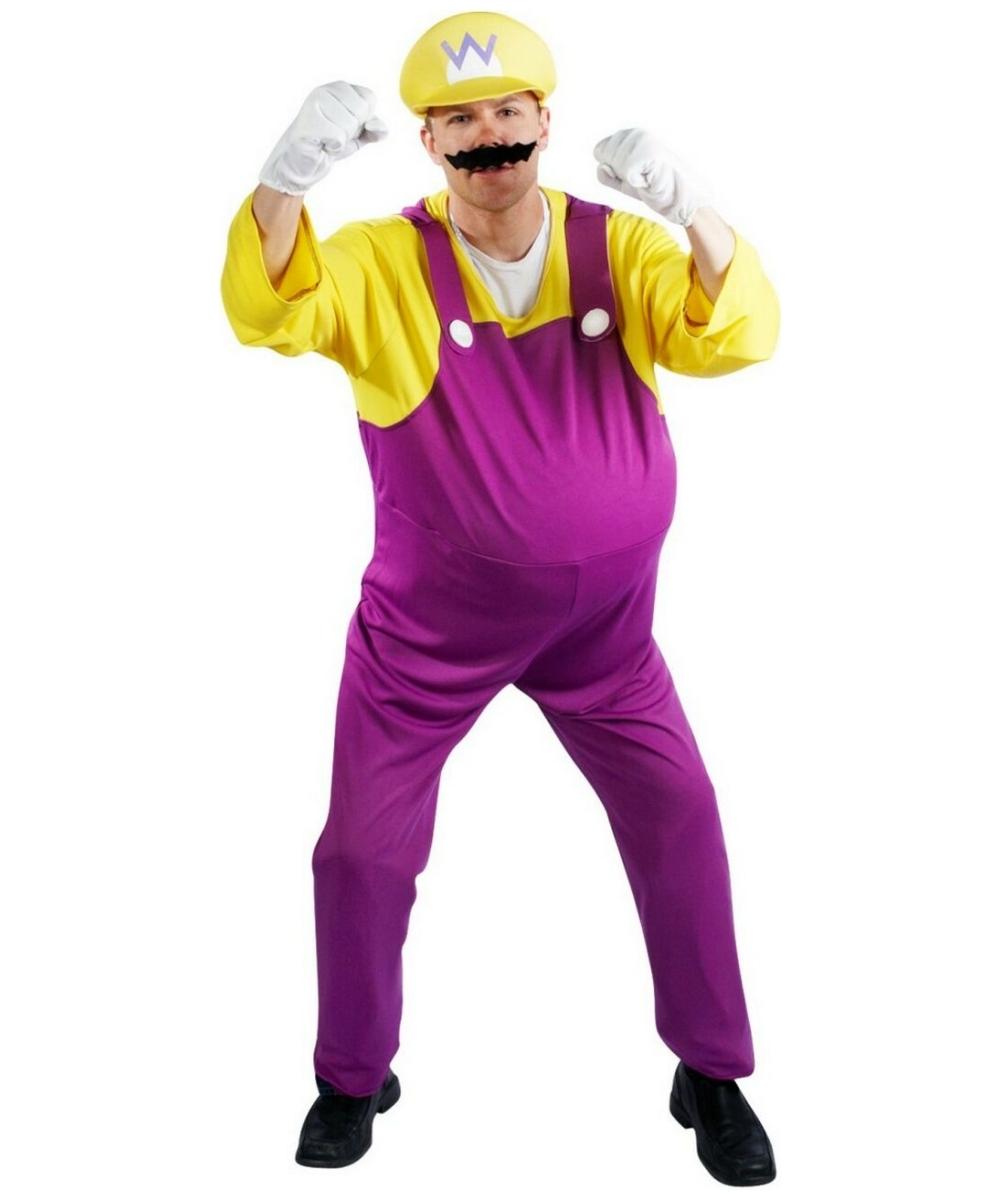 sc 1 st  Wonder Costumes & Adult Super Mario Wario Costume - Men Costumes