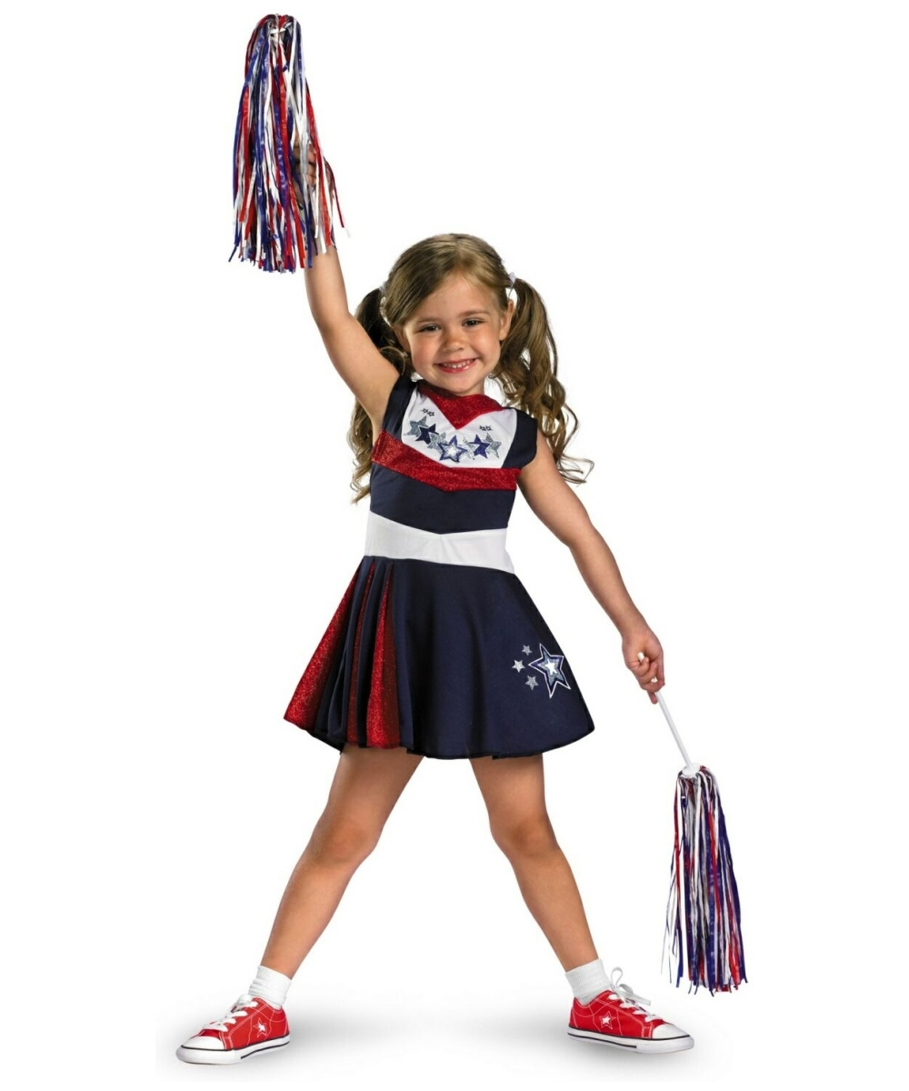 sc 1 st  Halloween Costumes & Cheerleader Superstar Spirit Kids Costume - Girl Cheerleader Costumes