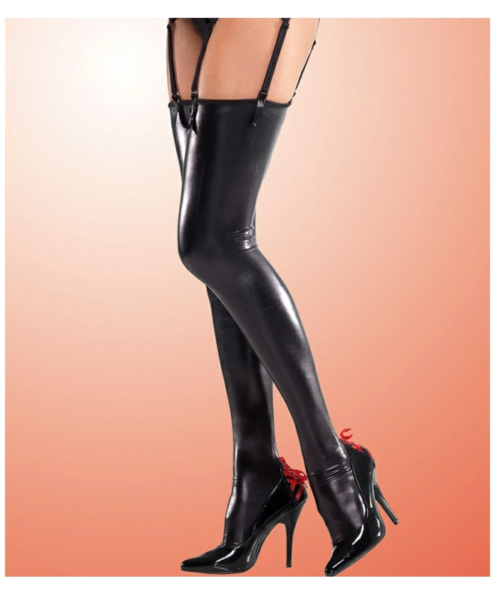 ba205451f77a1c Wet Look Thigh High Stockings - Costume Accessory