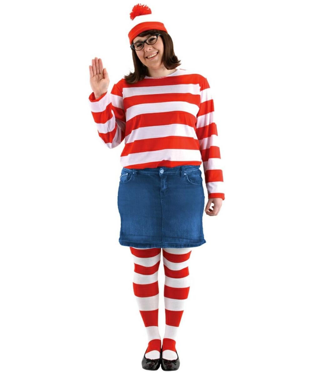 Wheres Waldo Wenda Costume - Plus Size Costume - Womens Halloween Costume at Wonder Costumes  sc 1 st  Wonder Costumes & Wheres Waldo Wenda Costume - Plus Size Costume - Womens Halloween ...