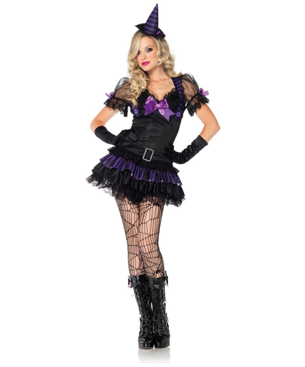 witch black magic girls' costume - adult halloween costumes