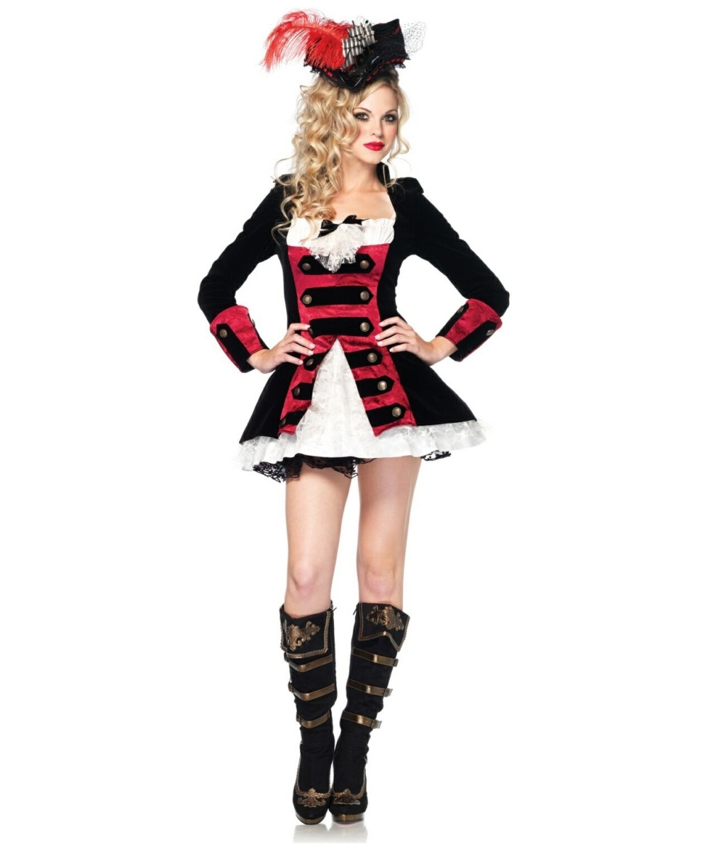 sc 1 st  Wonder Costumes & Adult Charming Pirate Captain Costume - Women Costumes