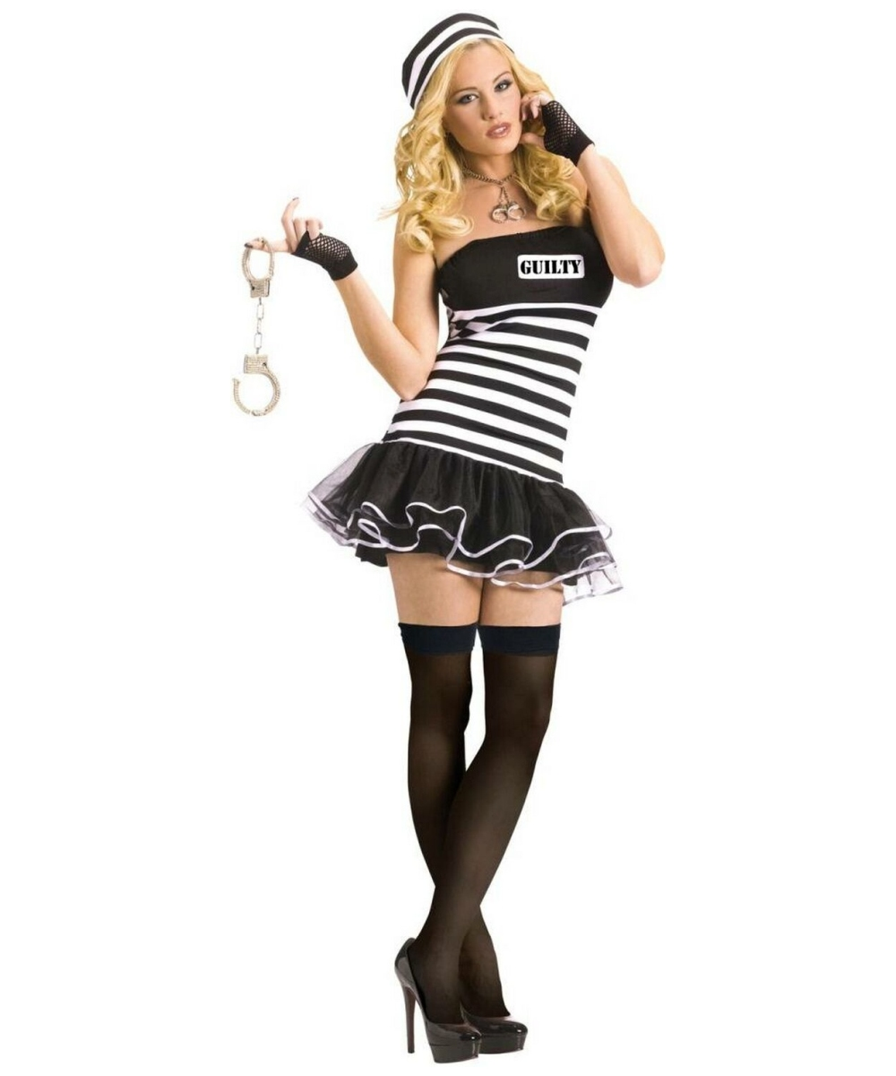 sc 1 st  Wonder Costumes & Prisoner Guilty Adult Costume - Women Halloween Costumes