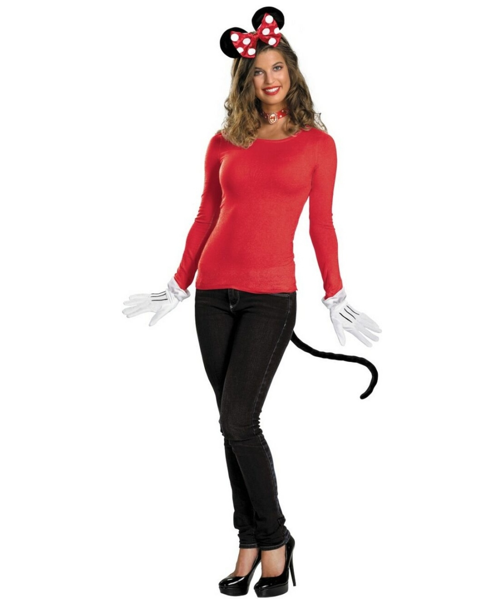 Minnie Mouse Disney Adult Costume Kit Red - Disney Halloween ... d9b475133