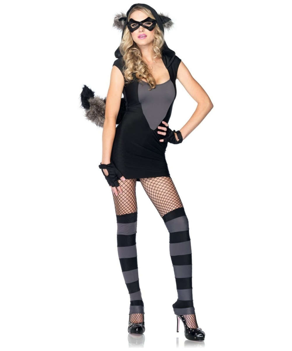 Womens Risky Raccoon Costume