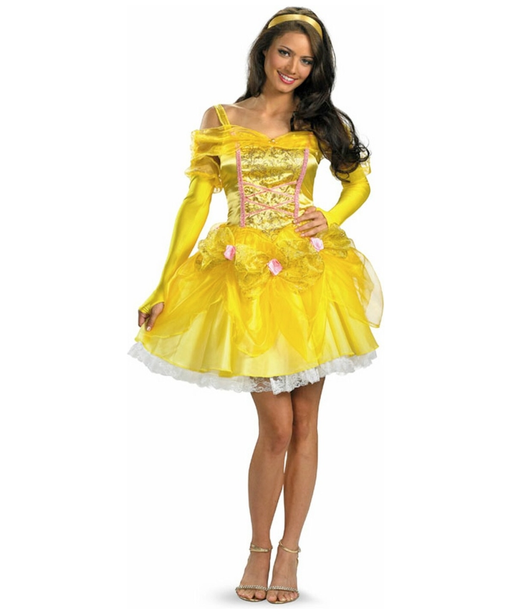 sc 1 st  Halloween Costumes & Belle Disney Princess Adult Costume - Women Disney Costumes