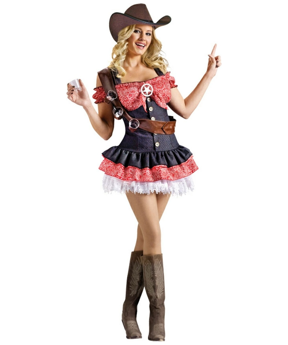 Adult Shotgun Sheriff Cowgirl Costume - Women Costumes