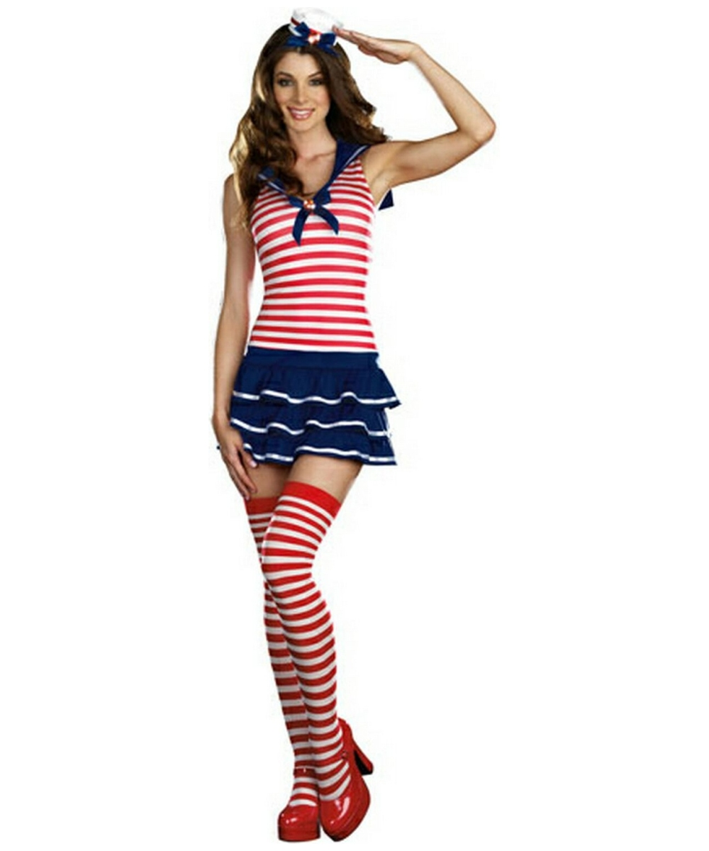 sc 1 st  Wonder Costumes & Sailor Windy Adult Costume - Sexy Sailor Costumes