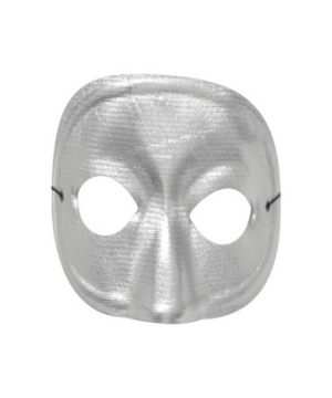 Silver Masquerade Adult Mask Costume Accessory