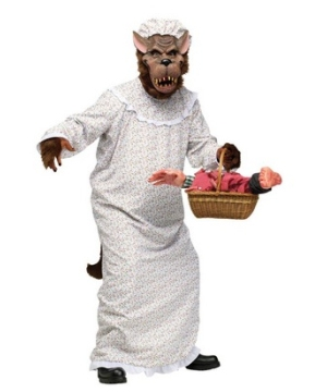 Bad Granny Wolf Adult Costume