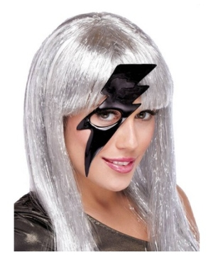 Black Lightning Bolt Adult Mask