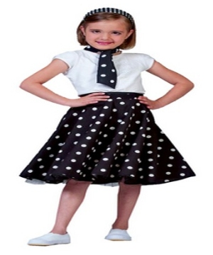Black Sock Hop Girls Costume  sc 1 st  Wonder Costumes : child grease costume  - Germanpascual.Com