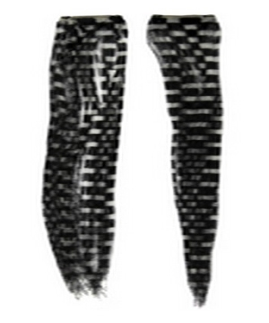 Black and White Checkered Hair Extensions