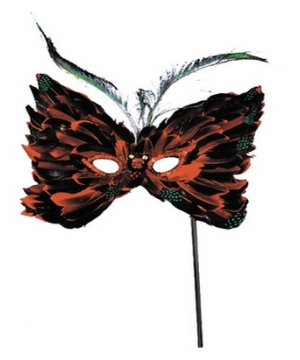 Butterfly Feather Masquerade Mask
