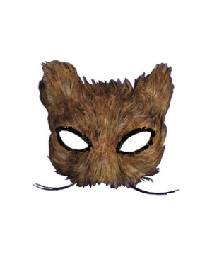 Cat Feather Masquerade Adult Mask