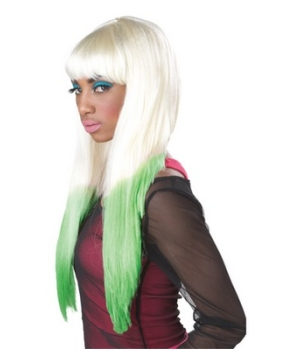 Color Dipped Rave Wig