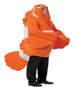 Adult clownfish costume men costumes for Fish costume adult