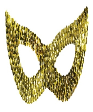 Gold Cat Sequin Adult Mask