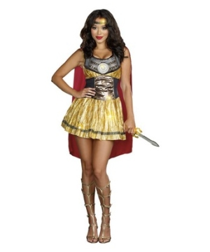 Golden Gladiator Womens Costume