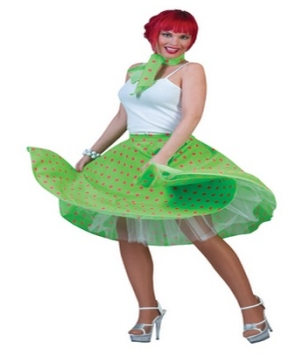 Green Sock Hop Women Costume