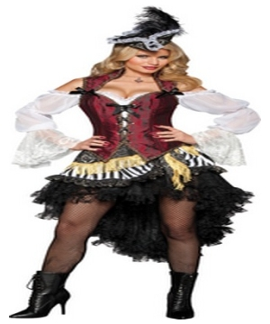 High Seas Treasure Pirate Women Costume