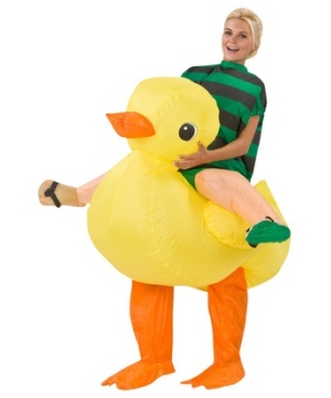 Adult Rubber Duck Rider Inflatable Halloween Costume