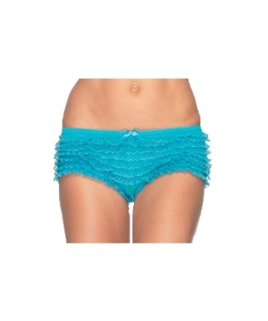 Lace Ruffle Adult Panties Neon Blue