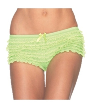 Lace Ruffle Adult Panties Neon Green