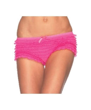 Lace Ruffle Adult Panties Neon Pink