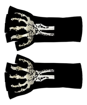 Long Skeleton Adult Gloves