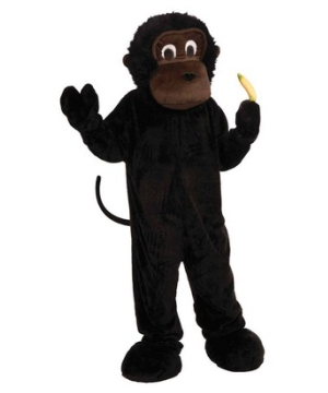 Dark Brown Monkey Mascot Adult Costume