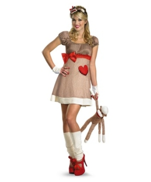 Ms Sock Monkey Women's Costume