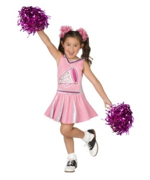 Pink Cheerleader Kids Costume