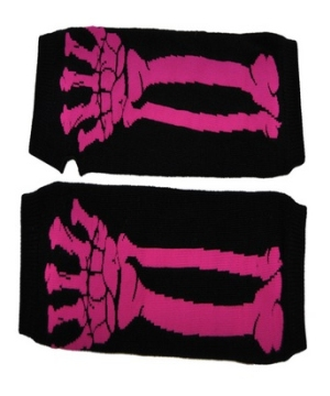 Pink Skeleton Adult Gloves