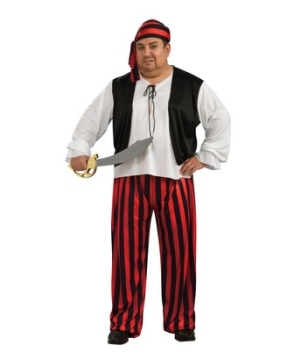 Pirate plus size Mens Costume
