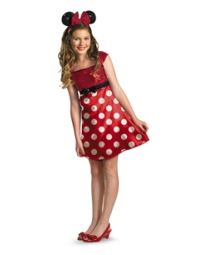 Red Minnie Mouse Girls Costume