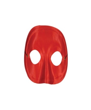 Red Satin Masquerade Adult Mask