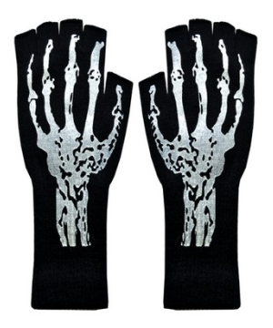 Short Skeleton Adult Gloves