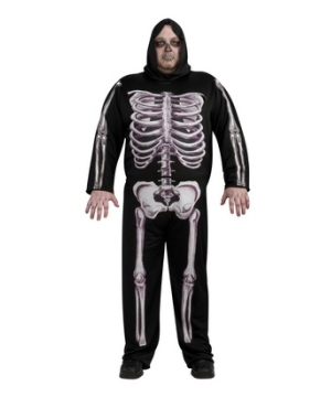 Skeleton Men plus size Costume