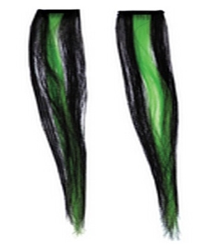 Stripe Hair Extensions Black Green