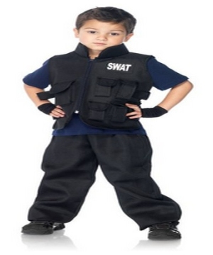 Swat Vest Commander Boys Costume