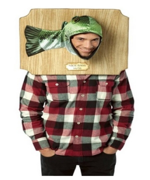 Trophy Head Bass Adult Costume