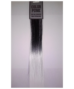 Black To White Fade Hair Extensions