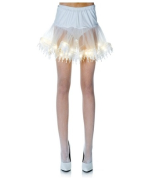 White Light-up Petticoat Adult